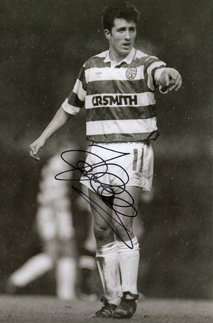 John Collins, Glasgow Celtic, Scotland, signed 12x8 inch photo. (2)